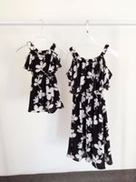 Wholesale summer style mother daughter dresses family look clothing mom and daughter dress chiffon baby mm clothes mommy and me clothes