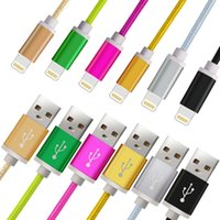 Wholesale Unbroken Metal M Long Strong Braided USB Charging Cable For Smart Phones Samsung HTC Sony LG Micro USB Wire With Metal Head Plug