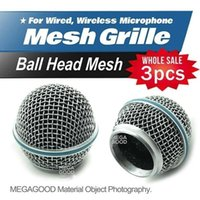 Wholesale microfono3pcs Professional Replacement Ball Head Mesh Microphone Grille Fits For Shure BETA58 BETA58A SM58 SM58S SM58LC sm58 sm