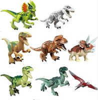 Wholesale 8pcs Dinosaurs of Jurassic Park World Mini Figure movie Kid Baby Toy Building Blocks Sets Model Toys Minifigures Brick