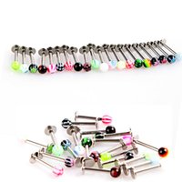 Wholesale Fashion Stainless Steel Ball Lip Rings Labret Stud Piercing Jewelry Lip Piercing Labret Ring