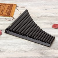 Wholesale ABS Tube Alto C Eco friendly Resin Pan Flute For Beginner Open Hole With Bag