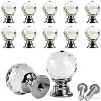 Wholesale 10Pcs Beauty Crystal Glass Door Drawer Cabinet Wardrobe Pull Handle Knobs E00043 SPDH