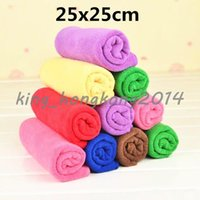 Wholesale Bamboo fibre facecloth towel child small wash towel x25cm