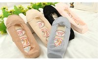Wholesale Invisible lace Sock Slippers women Queling socks Summer And Spring Socks non slip silicone bottom socks