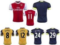 Wholesale 16 Arsenales home and away soccer jerseys soccer shirts football jerseys ALEXIS RAMSEY OZIL WILSHERE BELLERIN XHAKA