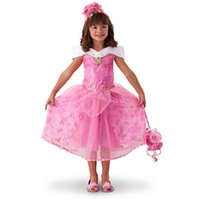 baby sleep gowns - 2016 pieces Sequins Baby Girls Party Dress Sleeping Beauty Costume Cosplay Gown Dresses