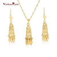 african american weddings - Westernrain K Gold Plating Fashionable Jewelry Set Bridal Large Pendant Light Weight Women Jewelry Set For Weddings G678