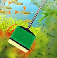 Wholesale Aquarium Glass Brush Fish Tank Cleaning Tool Stainless Steel Handle Clean Seaweed Aquarium Supplies