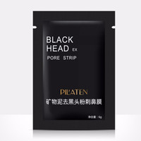 Wholesale 100pcs black mask PILATEN Tearing style Deep Cleansing purifying peel off Black head Close pores facial masks head pore strips