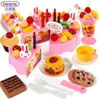 Wholesale Berns children s toys as music girl play fruit cake slice to see baby toy kitchen set