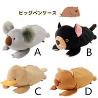 bear family cartoon - Wombats Family of Plush Toys Cute Cartoon Animals Pencil Pouch Platypus Koala Bear Stationery Student Stationery
