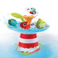 Wholesale Bath toy Water Game Duck Race With Music baby bath toys Toys and Games