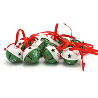 Wholesale christmas decoration dozen green white steel jingle bells with red string mm mm mm lt no tracking
