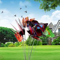 Wholesale 200pcs Colorful Flowerpot Decor Garden Decoration Butterfly Garden Ornaments