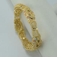 arab bracelets - CM Arab Bangle Women K Gold Plated Jewelry Ethiopian Wedding Bangles Egypt Bracelet Turkey Iraq Africa Middle East