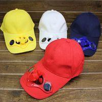 Wholesale Summer solar electric fan baseball cap outdoor cap tourism cap hat sun hat summer cap fishing cap