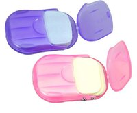 bath soap sets - New Arrivals Set Travel Portable Soap Paper Creative Mouse Box Petals Shape Soap Flakes Bath Disinfection Washing Cleaning Paper
