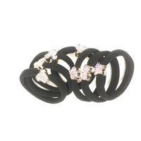 athletic hair bands - High quality athletic sparkling rhinestones headwear rubber bands hair rope hair bands hair gum
