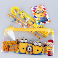 Wholesale Cute Kawaii Cartoon Minions Stationery As Gift For Kids Students School Supplies Stationery Set