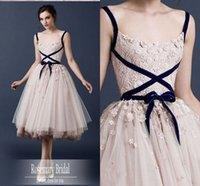 Wholesale A Line Cocktail Dress Bridal Charming Mini Spaghtti dress Vestido Special Occasion Dresses party homecoming Dresses Z182