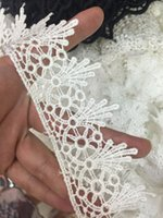 antique trims - 29yards Antique Style scalloped Embroidery Polyester Venise Lace Trim white color size cm