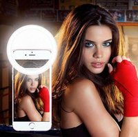 Wholesale Round Ring Flash Selfie LED light Fill Up in light lamplight Enhancing photography leds Charging For iphone s plus Samsung Galaxy ipad