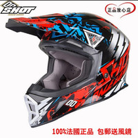 athletic goggles - Authentic French SHOT fiberglass helmets Cross country off road motorcycle helmet helmet to send high end athletic goggles