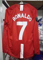 Wholesale Retro jersey UCL Ronaldo home red long sleeved shirt