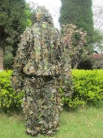 Wholesale Durable Soft Tactical Camouflage Clothing Bionic ghillie suit Camouflage Hunting clothes for CS War Game