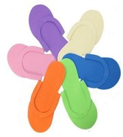 pedicure slippers - HOT Disposable Slipper EVA Foam Salon Spa Slipper Disposable Pedicure thong Slippers Beauty Slippers