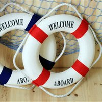 acrylic sport package - 3 Size Navy Style Lifebuoy Nautical Welcome Aboard Sign In Home Decor Decorative Life Ring Room Bar Home Decoration