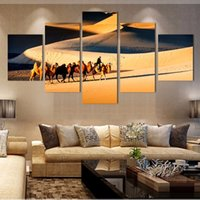 beautiful color combinations - Hot Sales Hd Large Desert Oil Painting On Canvas Painting Beautiful Decorative Wall Art Modern Abstract Image Unframed Color Multicolo