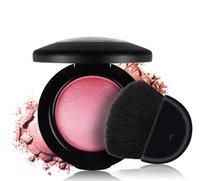 Wholesale Baked Blush bronzer Makeup Powder Blusher Professional Cosmetics Blusher with Brush Makeup Powder Blush with logo m r c color LJJK399