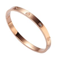 Wholesale Fashion style Brand design Stainless Steel Cuff Bangle Nail Screw Bangle Cuff Gold Rose Gold Silver Stainless Steel Bracelet Bangle Jewelry