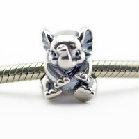 Wholesale 2016 new summer sterling silver beads Lucky Elephant Charm Fits European Pandora Style Jewelry Bracelets Necklace DIY charms