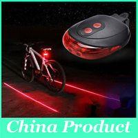 Wholesale Bike Night Ride Warning Light LED Laser Beam Bicycle Cycling Tail Rear Light Safety Warning Lamp Bike Tial Light