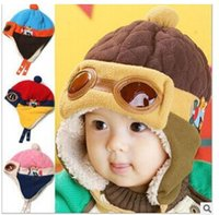 animal pilot hats - Baby Warm Flight Cap Hat Beanie Pilot Aviator Cap Cool Baby Boy Girl Kids Infant Winter Fleece Warm Animal Bear Hat