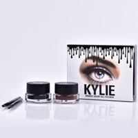 Wholesale 2016 Kylie Jenner Eyeliner Gel Waterproof Makeup Eye Liner Gel Cosmetics Make Up Black Brown Colors MR225