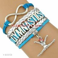 best aqua - Infinity Love Gymnastics Bracelet Best Gift for Gymnast Gymnastics Fans Aqua Silver Women Men Lady Girl Jewelry Gift Custom Drop Shipping