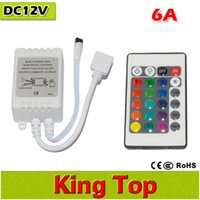 Wholesale New Mini key LED Controller RGB Colorful With IR Remote Control Mini Dimmer for SMD5050 Led Strip Lights DC12V