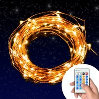 bedroom string lights - 100 LEDs ft Copper Wire Outdoor String Lights Dimmable LED String Lights for Bedroom Patio Party Garden Christmas Light Remote Control