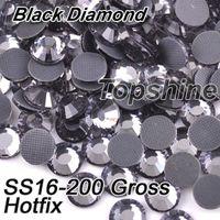 best gross - Best Quality Gross SS16 Glass Material Black Diamond DMC Hotfix Rhinestones For DIY