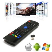 Wholesale 2 GHz Fly Air Mouse Wireless Qwerty Keyboard Remote for M8 MX MXQ MX3 T8 XBMC DHL free