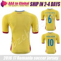 romania-soccer-jersey - Romania Soccer Jersey European home away soccer jerseys top quality Romania Florin Andone Gabriel Torje Bogdan football shirts