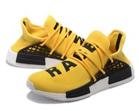 arrival human - 2016 New Arrivals Orignal NMD Human Race Runner Sports Running Shoes Human Race knit upper sneakers Yellow color with box