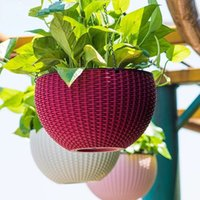 Wholesale 2016 High grade the cane makes up automatically from pouring water lazy plastic field gardening hanging basket orchid basin