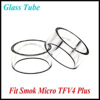 bell micro - High Quality Pyrex Glass Smok Micro TFV4 Plus Clear Glass Tube Replacement Glass Tube Bell Caps for Smok Micro TFV4 Plus Atomizer tank
