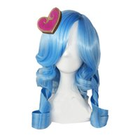 ashe wig - Rcoto League of Legends Ashe Long Wavy Wig Heartseeker Ashe Skin LOL Cosplay Hair Full Wig