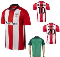 athletic bilbao football shirt - 2016 Athletic Bilbao Soccer Jerseys Uniforms Thai Quality MUNIAIN ADURIZ KIKE SOLA ITTURASPE DE MARCOS Football Shirt